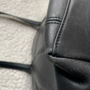 Coach Bags - Vintage Coach Black Leather Lunch Tote
